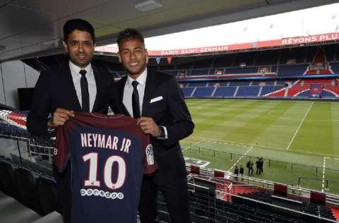 Neymar, de 29 años, llegó al PSG en 2017 procedente del FC Barcelona. Foto:EFE