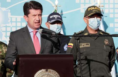 El ministro de Defensa de Colombia Diego Molano, presenta informe. FOTO/EFE