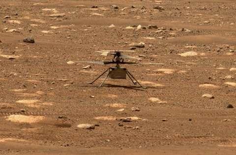 Los científicos de la NASA no tienen planeado el envío de otro helicóptero. FOTO/EFE