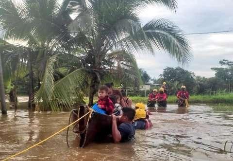 Varias regiones de la provincia de Bocas del Toro se inundaron.