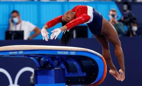 Simone Biles en acción. /Foto: EFE