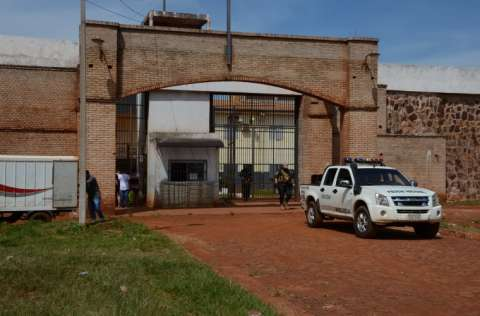Entrada principal del penal Pedro Juan Caballero, en el Departamento de Amambay Paraguay. FOTO/EFE
