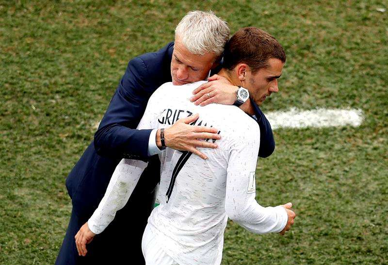 """El seleccionador francés aseguró que el conjunto """"bleu"""" accedió con merecimiento a las semifinales del Mundial tras haber vencido a Uruguay. Foto EFE"""