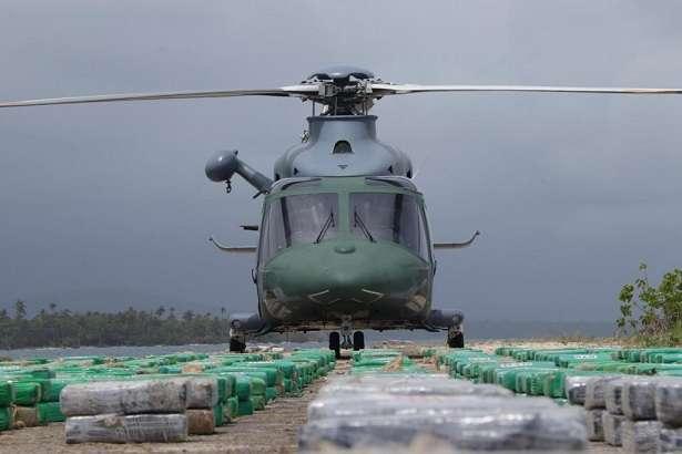 Estos decomisos son muestra de la lucha que adelantan los estamentos de Seguridad con el apoyo del Centro Regional de Operaciones Aeronavales (Croan).