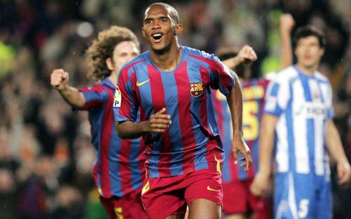 SMuel Eto'o tuvo una carrera destacada con el club Barcelona.