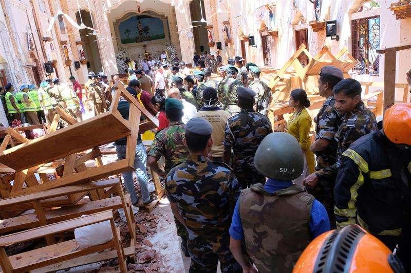 Imágenes de uno de los sitos de las explosiones. Foto/EFE