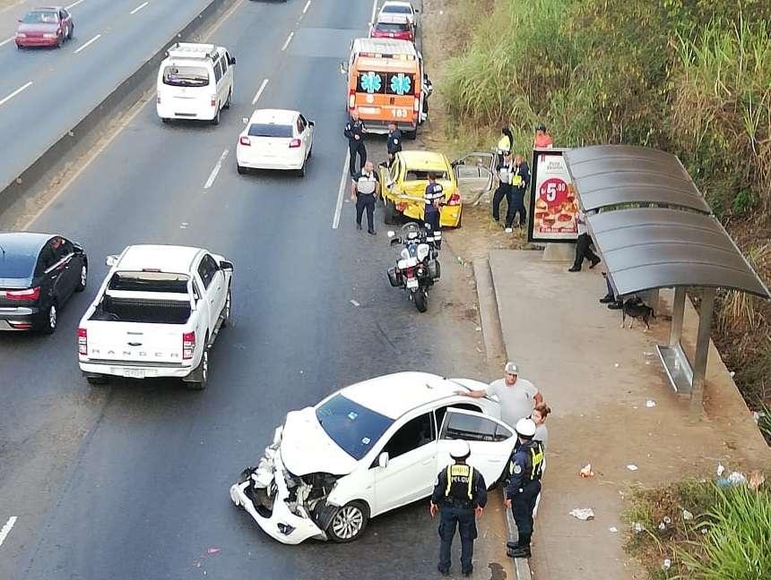 Vista general del punto exacto del accidente. Foto: @TraficoCPanama
