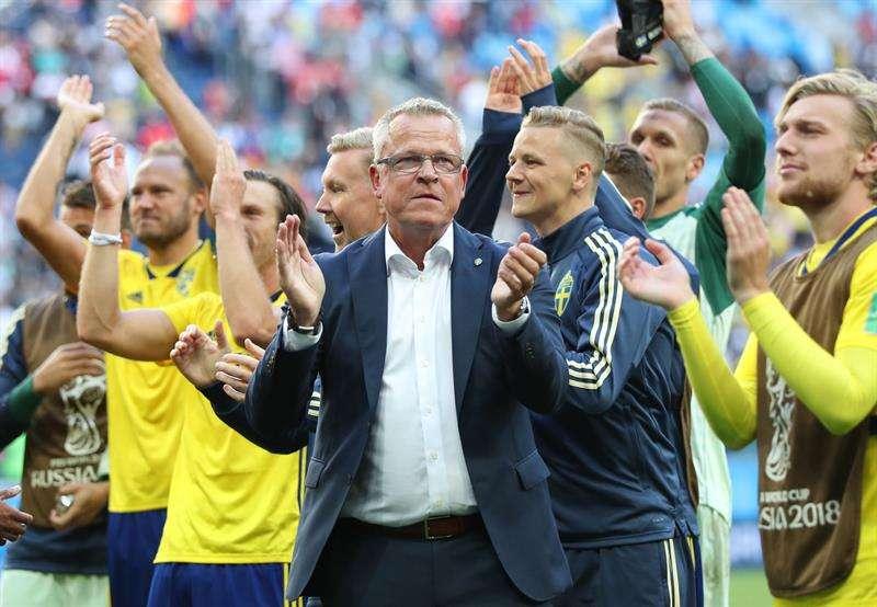 El seleccionador sueco, aseguró que quieren ganar el siguiente partido. Foto EFE