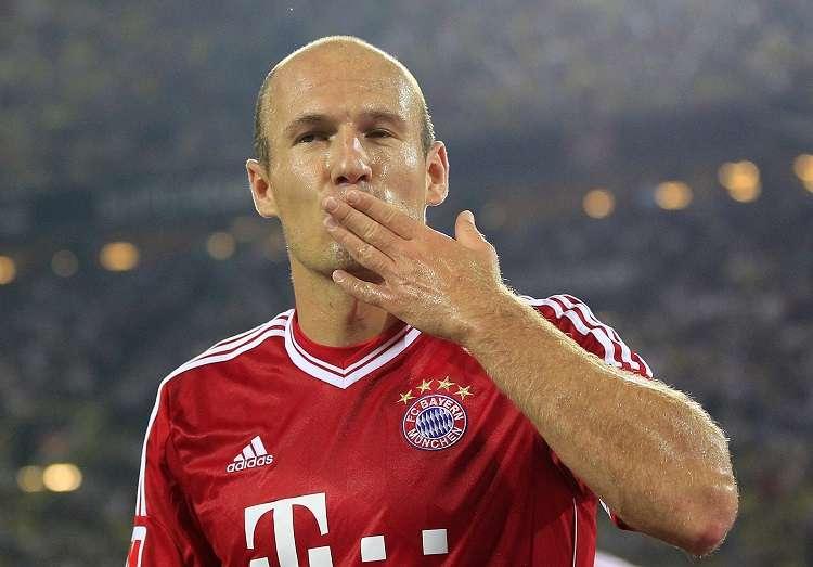 Arjen Robben disputó 96 partidos con la selección de su país. Foto: AP
