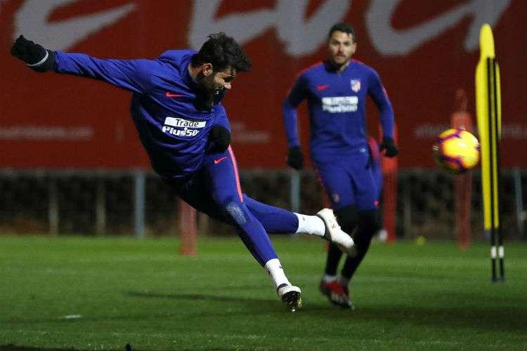 Entrenamiento de hoy del Atlético de Madrid. Foto: @Atleti