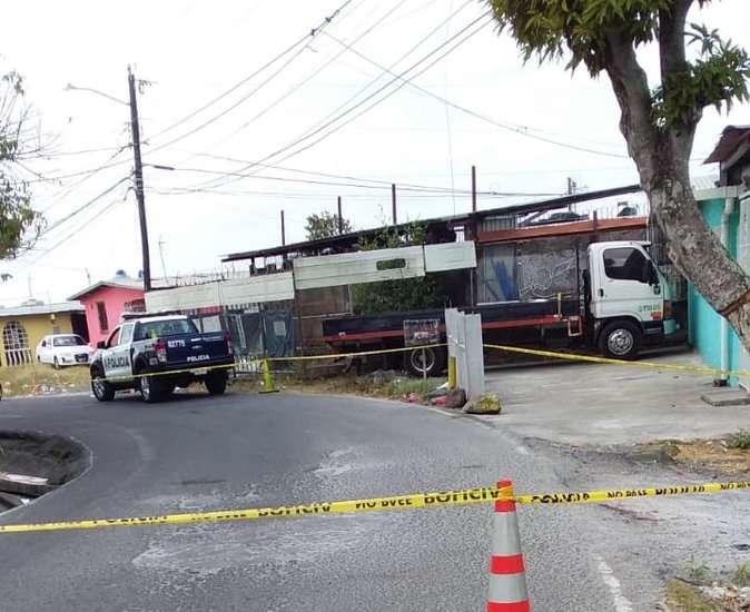 Vista general del lugar del robo. Foto: @TraficoCPanama