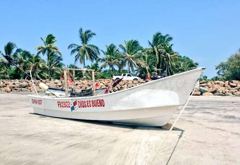 Vista general del bote desaparecido. Foto: Senan