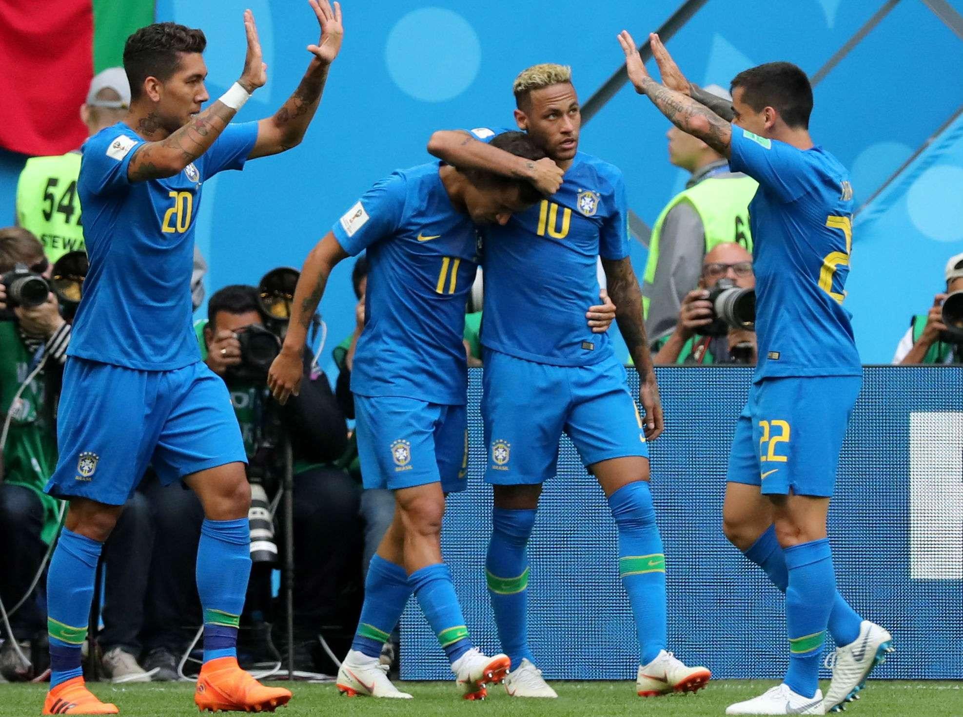 Brasil le ganó 2-0 a Costa Rica. Foto:EFE