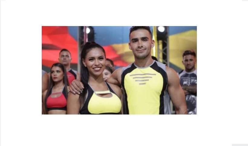 Dagner y Sarah, excompetidores del show de televisión Calle 7. Captura