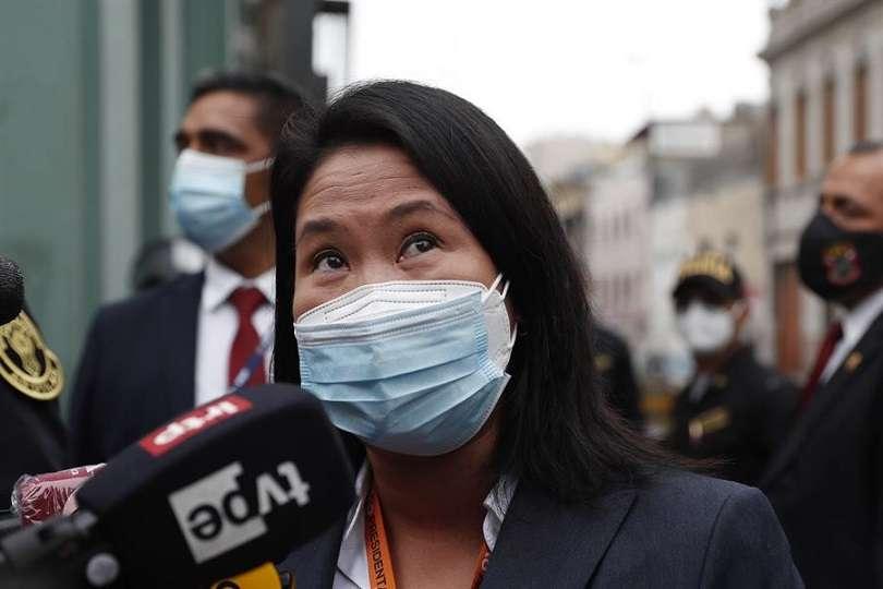 En la imagen, la candidata presidencial peruana, Keiko Fujimori. EFE