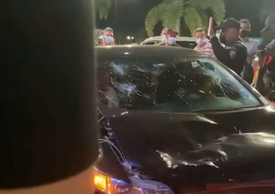 Escena del incidente en la Calzada de Amador.