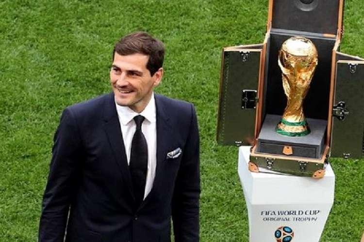 El portero Iker Casillas, que no ha vuelto a ju,.gar desde su infarto de miocardio en mayo de 2019.