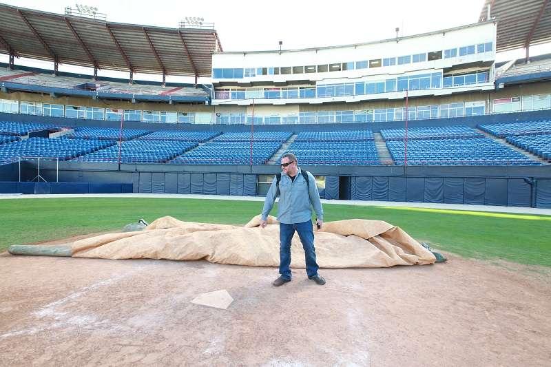 Chad Olsen de las Grandes Ligas (MLB por sus siglas en inglés)./ Foto Anayansi Gamez
