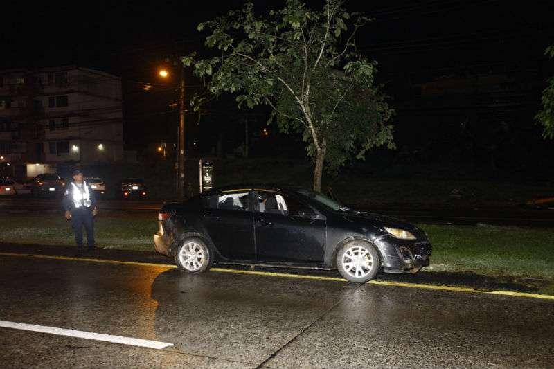Vista general del lugar donde fue retenido el vehículo que era perseguido. foto: Alexander Santamaría