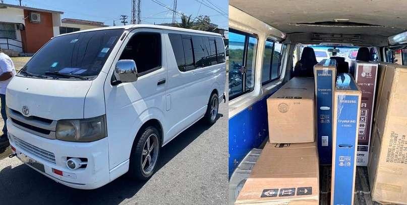 El conductor del busito fue detenido en la comunidad de Puerto Escondido, corregimiento de Cristóbal.