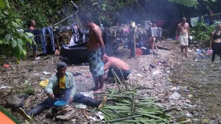 Campamento de migrantes cubanos en Darién / Foto: Cortesía