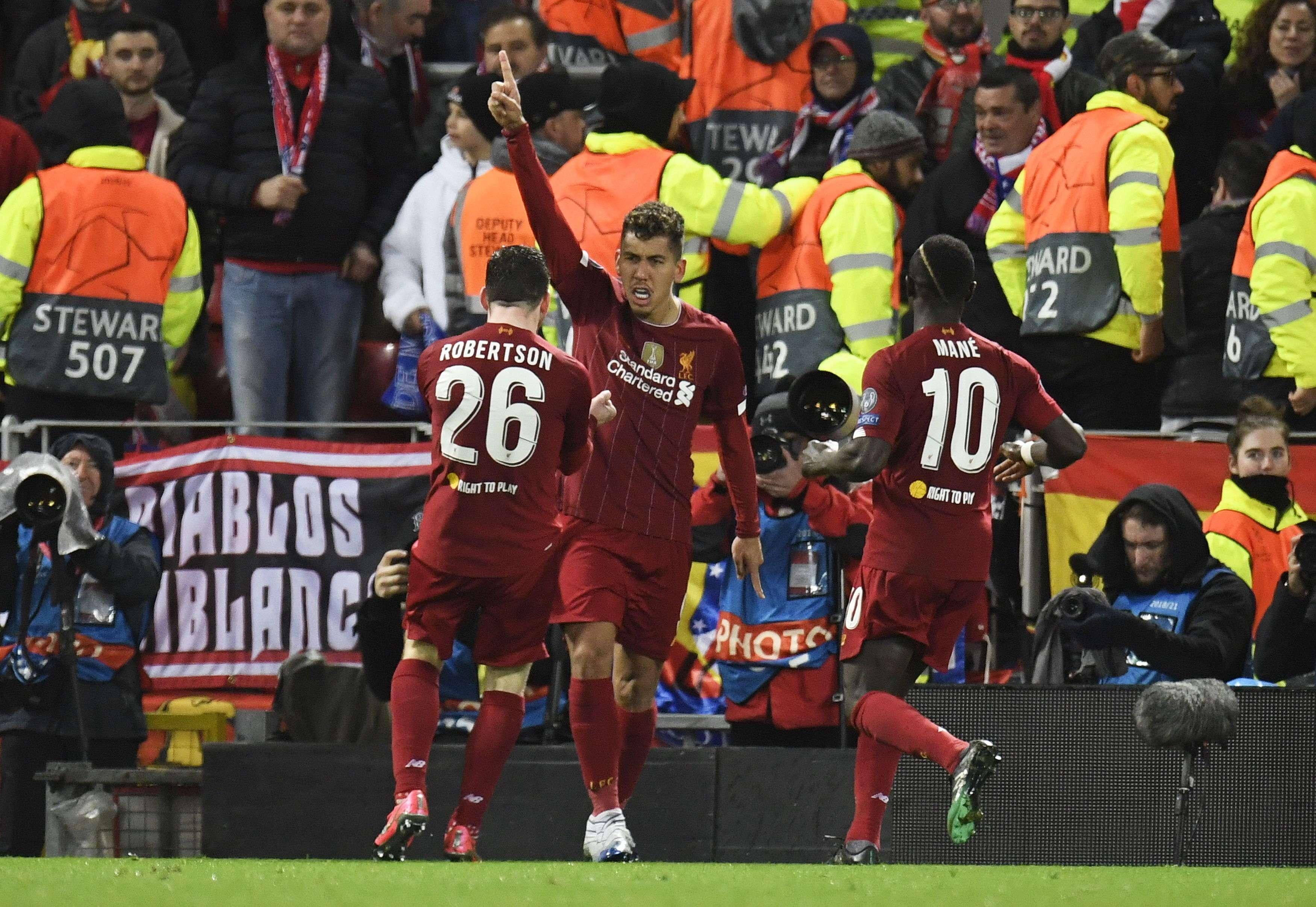 Jugadores del Liverpool. Foto: EFE