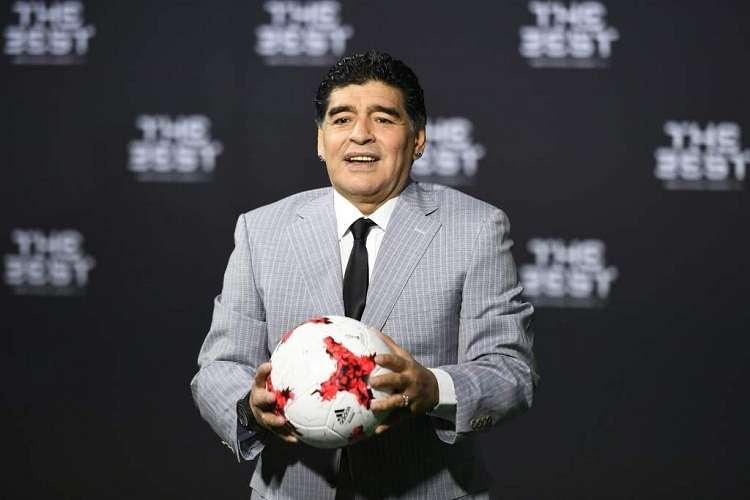 Armando Maradona es técnico de los Dorados de Sinaloa. Foto: EFE