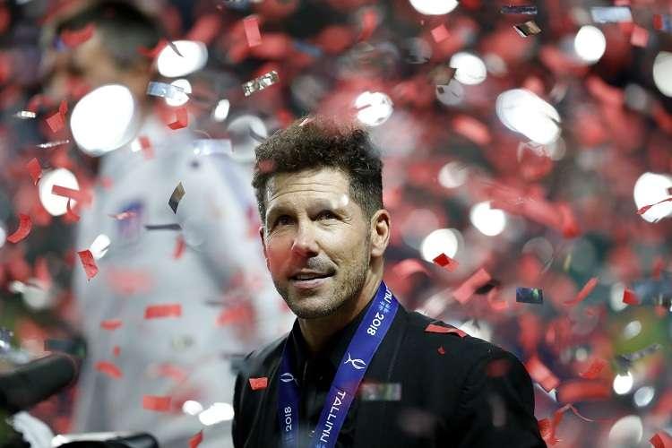 Diego Simeone  sumó su séptimo como técnico. Foto: AP
