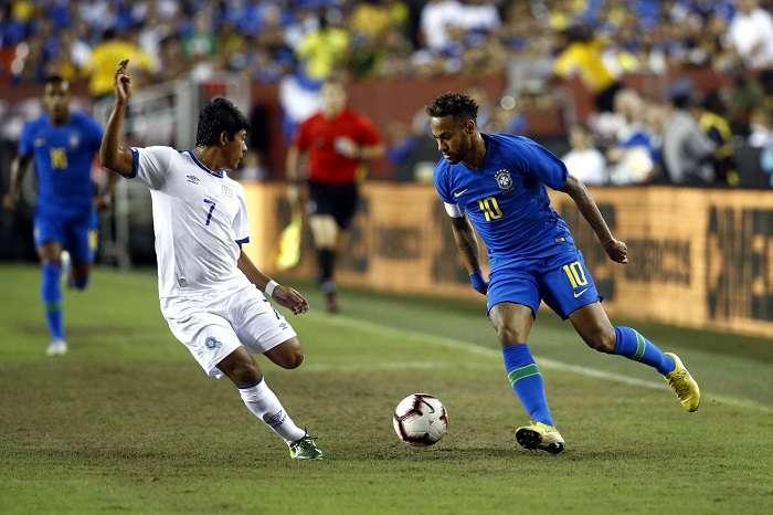 Neymar Jr. jugó la pasada fecha Fifa frente a El Salvador. /EFE