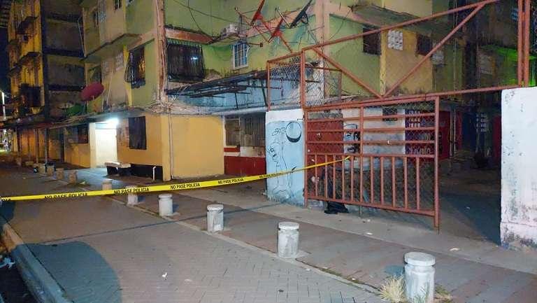 Vista general de la escena del crimen número 28 en Colón.