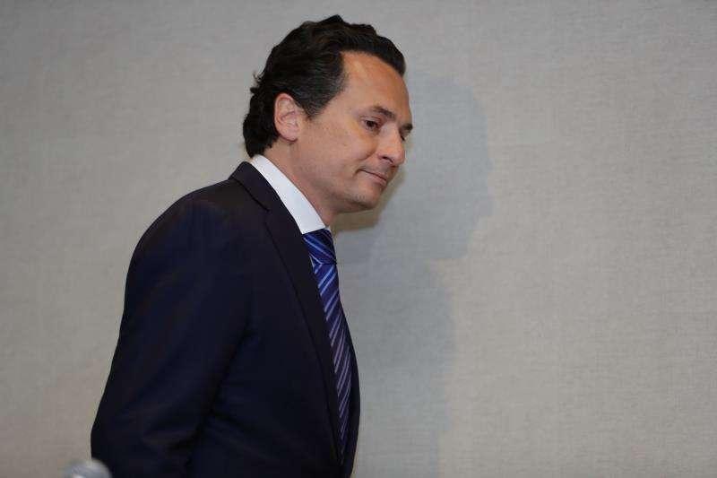 El exdirector de Petróleos Mexicanos (Pemex) Emilio Lozoya a su llegada a una rueda de prensa ofrecida en Ciudad de México. EFEArchivo