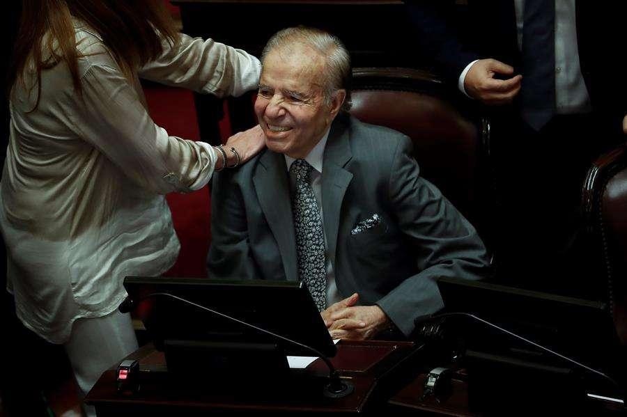 El expresidente argentino Carlos Menem (1989-1999) falleció este domingo a los 90 años. EFE