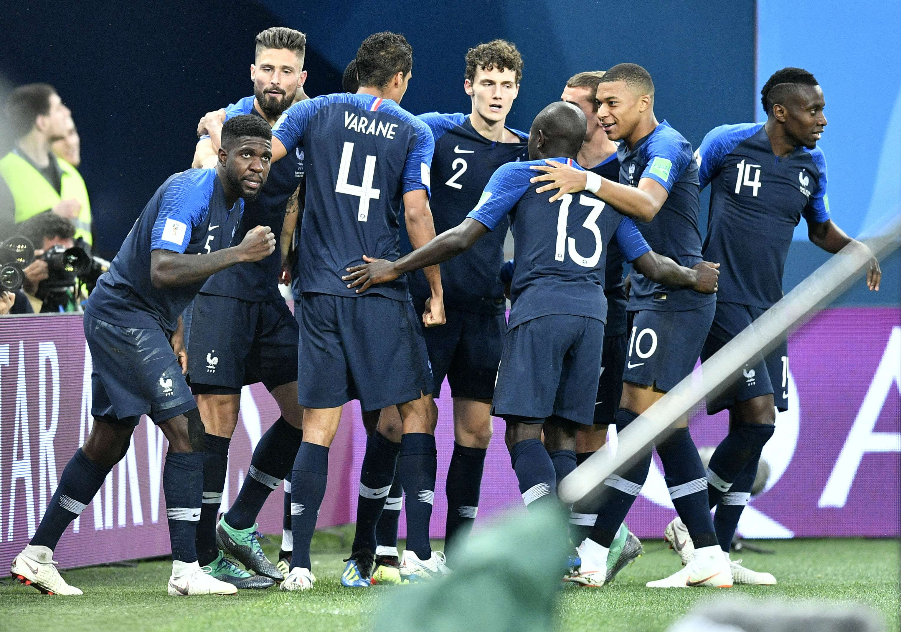 La selección de Francia jugará la final del Mundial de Rusia. Foto:EFE