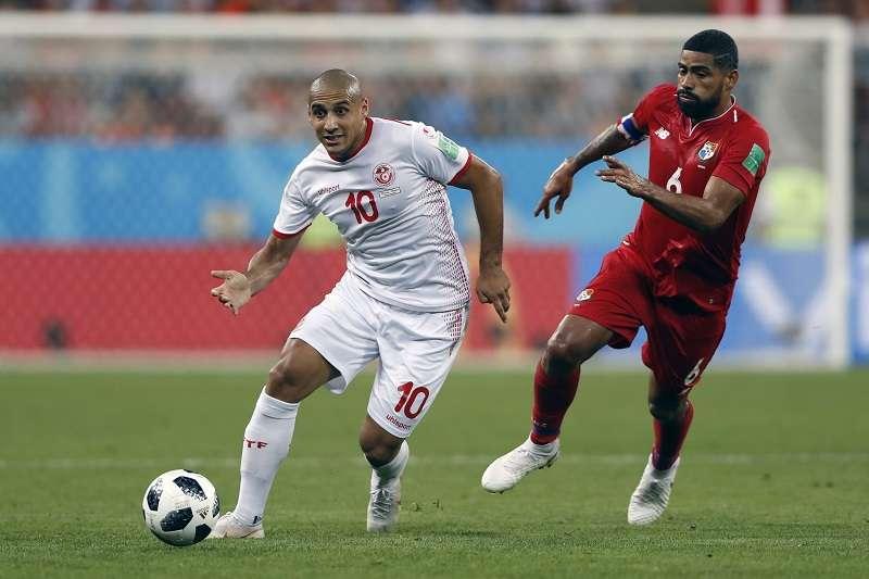 Gabriel Gómez (dcha.) fue titular en los tres partidos de Panamá en el Mundial de Rusia 2018. Foto EFE