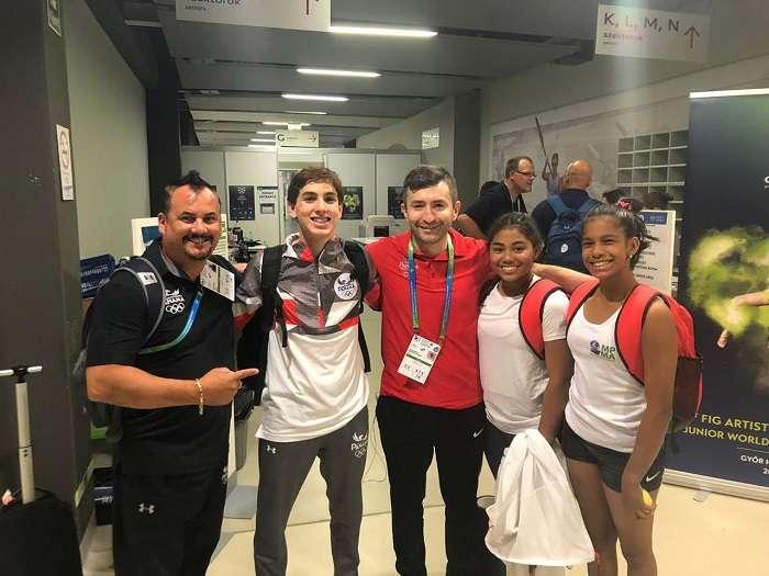 Equipo de gimnasia de Panamá. Foto: Cortesía