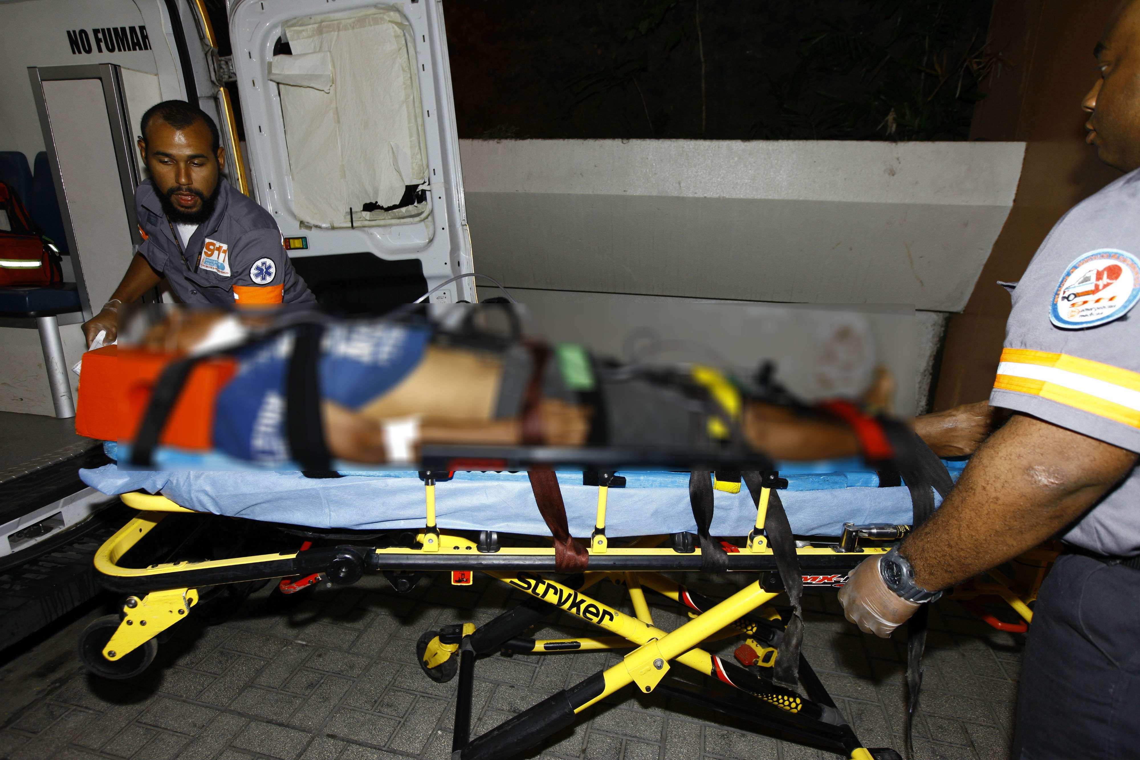 El herido se mantiene estable en el hospital Santo Tomás.  /  Foto: Alexander Santamaría