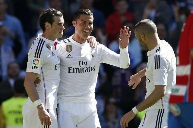 Bale, Benzema y Cristiano podrían alinear frente al Barcelona/AP