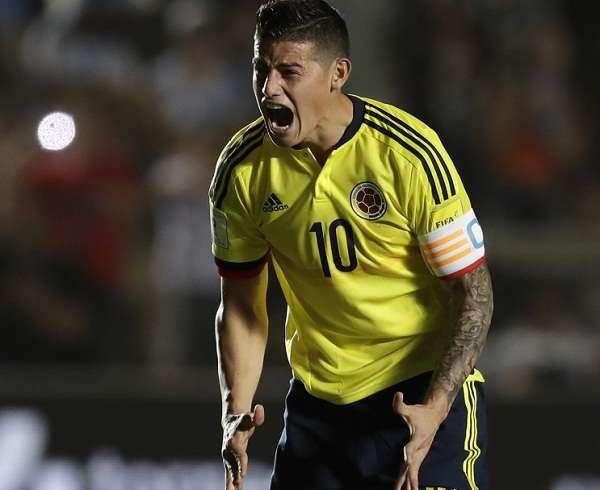 James Rodríguez  y Colombia debutarán en el Mundial el 19 de junio frente a los 'nipones'. Foto: AP