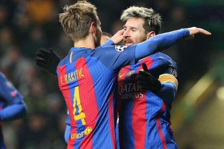 Lionel Messi e Ivan Rakitic, compañeros en el Barcelona pero serán rivales en el Mundial de Rusia.