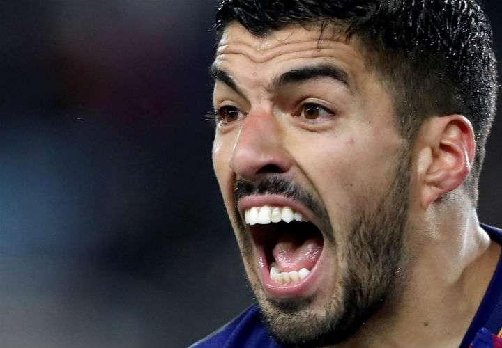 El delantero uruguayo Luis Suárez es figura en el FC Barcelona de España. Foto EFE