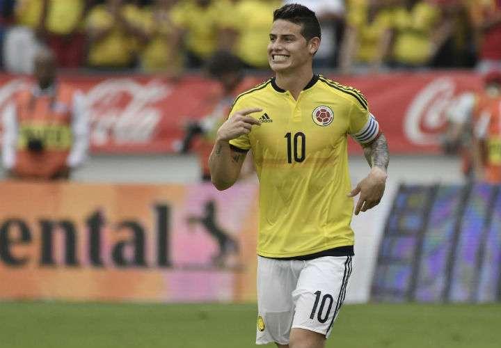 James Rodríguez es una de las piezas importantes en la selección de Colombia. Foto AP