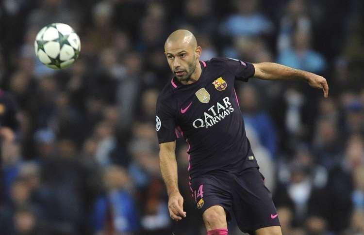 Javier Mascherano jugó en 334 partidos con el Barcelona. Foto: AP