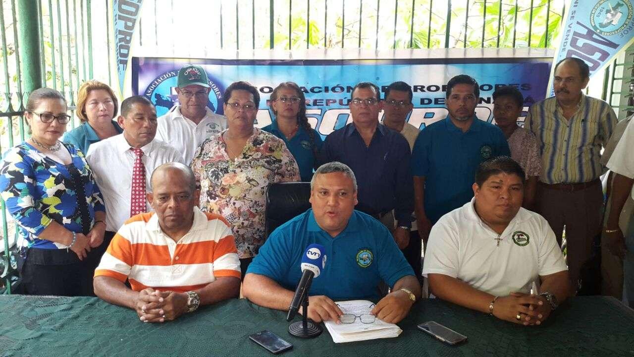 Conferencia de prensa ASOPROF. Foto/Cortesía