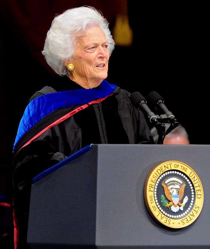 Fotografía de la ex primera dama en un discurso. Foto/EFEarchivos