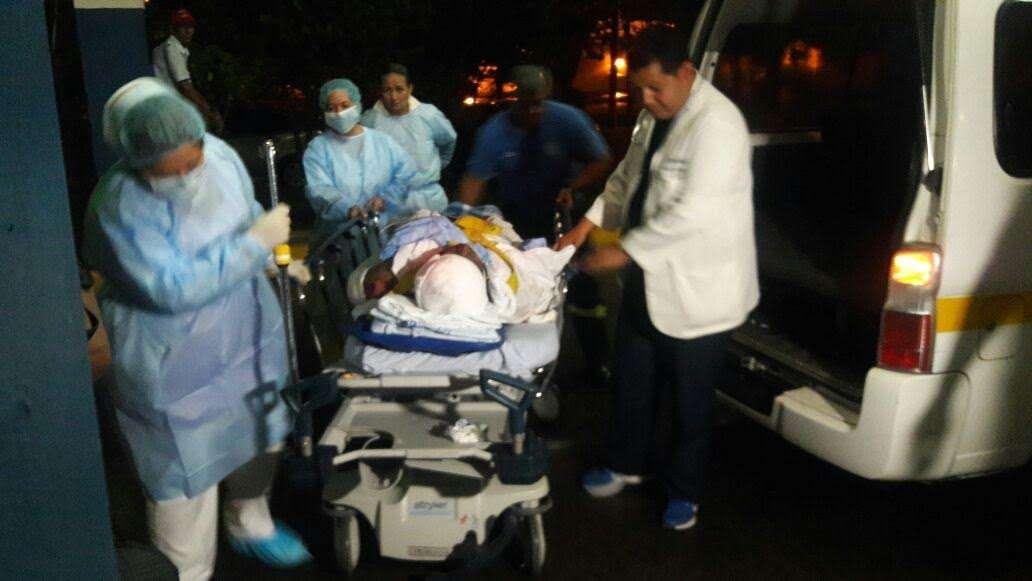 El hombre se recupera en el hospital de David