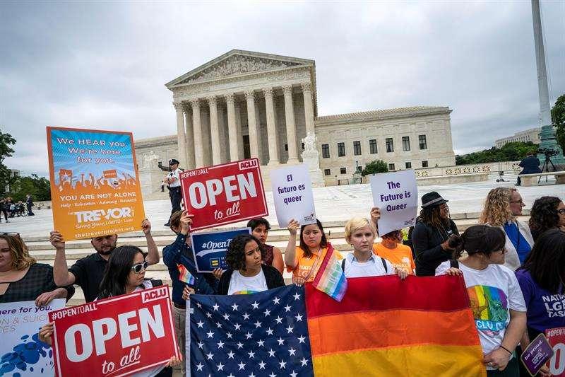 Protesta contra decisión de El Tribunal Supremo de Estados Unidos. Foto/EFE