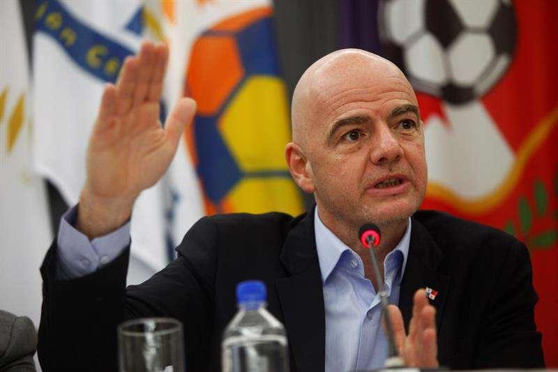 El presidente de la FIFA, Gianni Infantino, hablo alto y claro sobre el Mundial de Catar 2022. Foto EFE