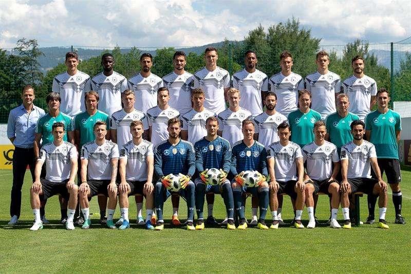 La selección de Alemania defenderá en Rusia el título que conquistó en el Mundial de Brasil 2014. Foto EFE
