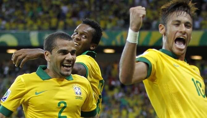 El equipo brasileño, comandado por Neymar da Silva, es uno de los favoritos para ganar la Copa Mundial de Fútbol. Foto EFE