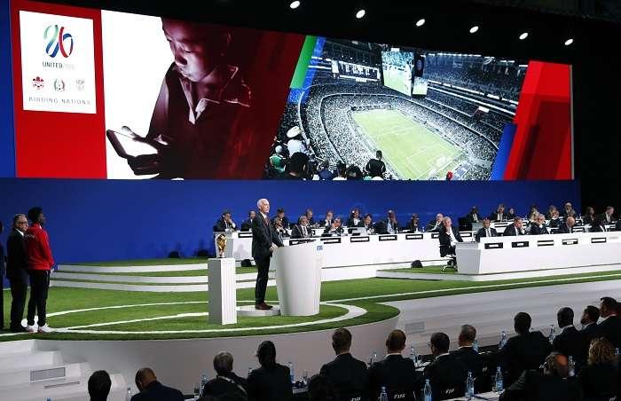 Presentación de la candidatura para el mundial 2026./EFE